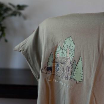 Detalle camiseta caqui Walden