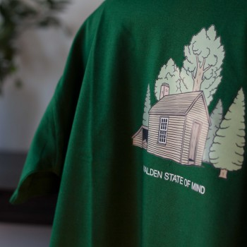 Detalle camiseta verde Walden